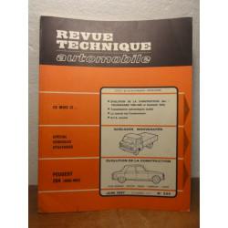 1 REVUE TECHNIQUE PEUGEOT 204 JUIN 1967