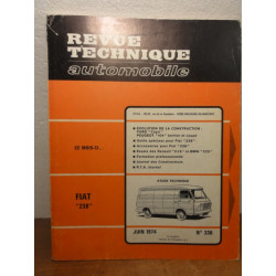 1 REVUE TECHNIQUE FIAT 238 JUIN 1974